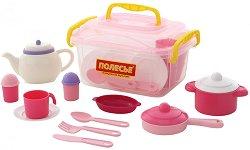 Сервиз за чай - Настя - Детски комплект в куфарче -