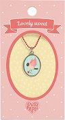 """Медальон - Врабче - Детски аксесоар от серията """"Lovely Sweet"""" -"""