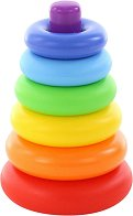 Конус с цветни рингове - Пирамида - играчка