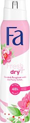 Fa Fresh & Dry Peony Sorbet Scent 48H Anti-Perspirant - Дамски дезодорант против изпотяване с аромат на божур -