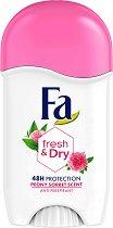 Fa Fresh & Dry Peony Sorbet Scent 48H Stick Anti-Perspirant - Дамски стик дезодорант против изпотяване с аромат на божур - дезодорант