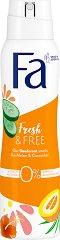 Fa Fresh & Free Cucumber & Melon Scent 48H Deodorant - Дамски дезодорант с аромат на краставица и пъпеш - душ гел
