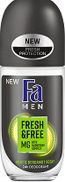 Fa Men Fresh & Free Mint & Bergamot Scent 24H Roll-On Deodorant - Ролон дезодорант за мъже с аромат на мента и бергамот -
