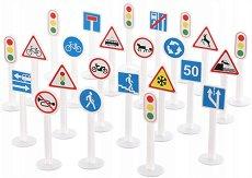 Пътни знаци - Детски образователен комплект - басейн