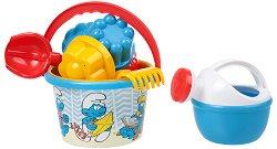 Комплект за игра с пясък - Смърфовете - играчка