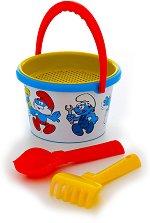 Комплект за игра с пясък - Смърфовете - Детски комплект за игра -