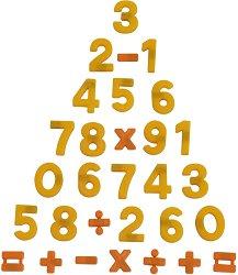 Магнитни цифри и знаци - Образователен комплект - творчески комплект