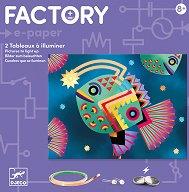 """Направи сам светеща картина - Abysses - Детски образователен комплект от серията """"Factory"""" -"""