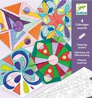 Мандали за оцветяване – Розетка - Творчески комплект - творчески комплект