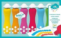Флумастери с гъбичка - Комплект от 6 броя