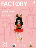 Направи сама светеща брошка - Bunny girl - творчески комплект