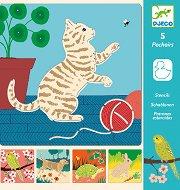 Шаблони за рисуване - Домашни любимци - Творчески комплект - играчка