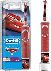 """Oral-B Vitality Kids Disney Cars Electric Toothbrush - Детска електрическа четка за зъби от серията """"Колите"""" - четка"""