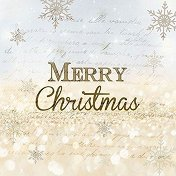Салфетки за декупаж - Честита Коледа - Пакет от 20 броя