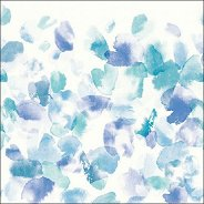 Салфетки за декупаж - Сини цветове - Пакет от 20 броя