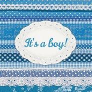 Салфетки за декупаж - It's a boy! - Пакет от 20 броя
