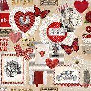 Салфетки за декупаж - Любовен билет - Пакет от 20 броя