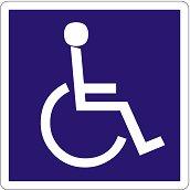 Самозалепваща пиктограма - Инвалид