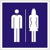 Самозалепваща пиктограма - Мъже / Жени
