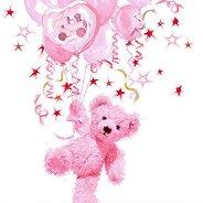 Салфетки за декупаж - Розово мече - Пакет от 20 броя