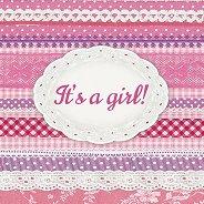 Салфетки за декупаж - It's a girl! - Пакет от 20 броя