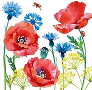Салфетки за декупаж - Полски цветя - Пакет от 20 броя