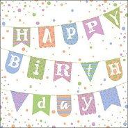 Салфетки за декупаж - Честит рожден ден