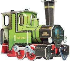 Локомотив - Картонен 3D модел за сглобяване -