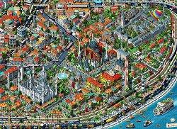 Поглед над Истанбул - Тарик Толунай (Tarık Tolunay) - пъзел