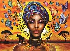 Красива африканка - пъзел