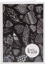 Поздравителна картичка - I love you -