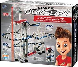 Писта за стъклени топчета - Космическа Одисея - Комплект с 20 топчета -