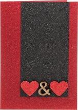 Поздравителна картичка - Две сърца -