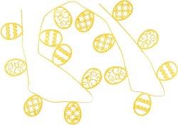 Гирлянд от филц - Яйца - С дължина 2.30 m