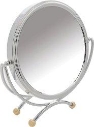 Хромирано двустранно огледало - С увеличение x10 - ножичка