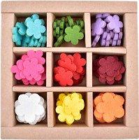 Фигурки от филц - Цветенца - Комплект от 100 броя в кутия