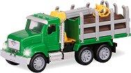 """Камион за дърва - Комплект със светлинни и звукови ефекти от серията """"Driven"""" - играчка"""