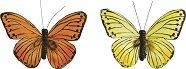 Пеперуди за декорация - Комплект от 2 броя с щипка