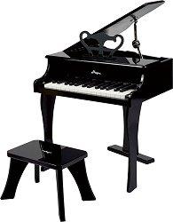 Детски роял със стол - Детски музикален инструмент от дърво -