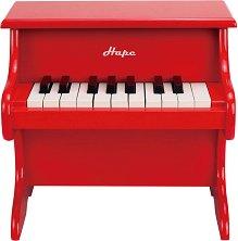 Червено пиано - Детски дървен музикален инструмент -
