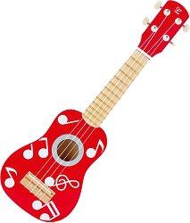 Укулеле - Детски дървен музикален инструмент -