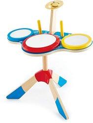 Барабани с чинел - Детски музикален инструмент -