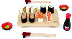 Суши - Дървен комплект за игра -