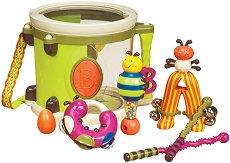 """Детски музикални инструменти - Комплект от 6 броя от серията """"B Toys"""" - играчка"""