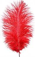 Червено перо от щраус - С височина 20 cm