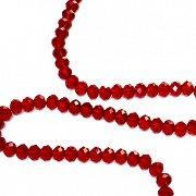 Червени кристални мъниста - Наниз от 72 броя с диаметър ∅ 1 cm