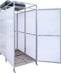 Соларна душ кабина - Duo - Със съблекалня и резервоар с обем 130 l