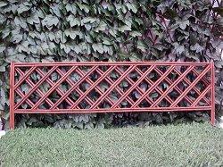Ниска градинска ограда от върба