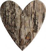 Фигурка от брезова кора - Сърце - Комплект от 5 броя