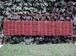 Ниска градинска ограда от върба - 1 модул с дължина 1 m